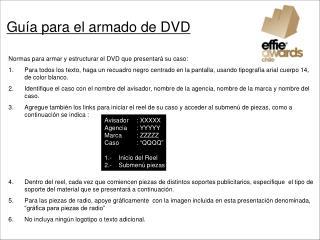 Guía para el armado de DVD