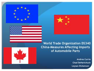World Trade Organization DS340 China-Measures Affecting Imports  of Automobile Parts
