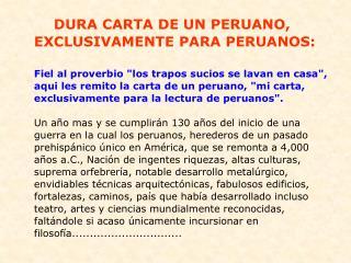 Solo para peruanos
