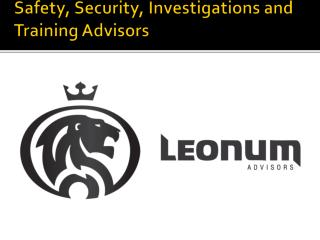 Safety, Security, Investigations and Training Advisors