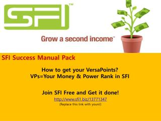 How to get your VersaPoints? VPs=Your Money & Power Rank in SFI