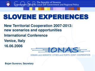 SLOVEN E EXPERIENCES