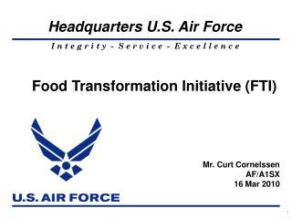 Food Transformation Initiative (FTI)