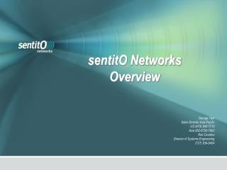 sentitO Networks Overview