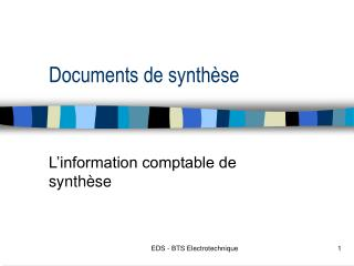 Documents de synthèse