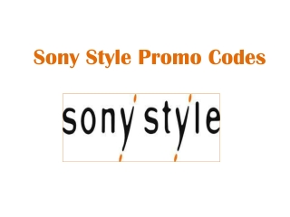 Sony Style Promo Codes