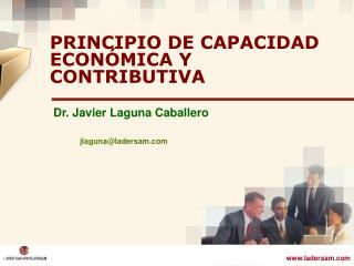 PRINCIPIO DE CAPACIDAD ECONÓMICA Y CONTRIBUTIVA