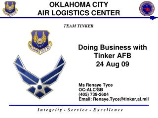 Doing Business with Tinker AFB 24 Aug 09