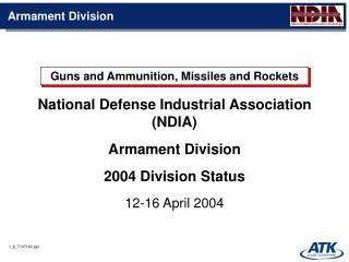 1 _b_T107183.ppt Armament Division