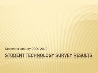 Student Technology Survey Results