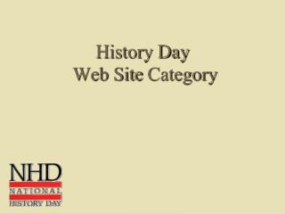 History Day  Web Site  Category