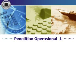 Penelitian Operasional   1