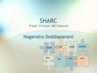 SHARC  S uper  H arvard  ARC hitecture
