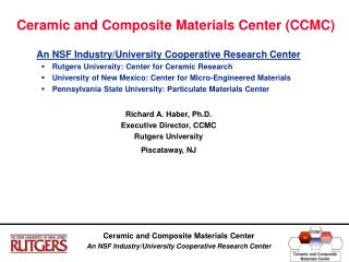 Ceramic and Composite Materials Center (CCMC)