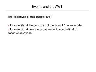 Events and the AWT