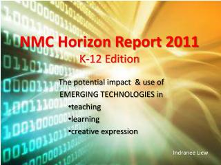 NMC Horizon Report 2011 K-12 Edition