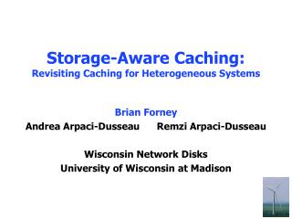 Storage-Aware Caching: Revisiting Caching for Heterogeneous Systems