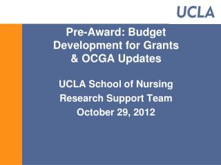 Pre-Award: Budget Development for Grants & OCGA Updates