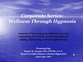 Corporate Series: Wellness Through Hypnosis