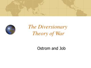The Diversionary     Theory of War