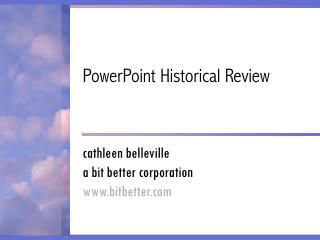 powerpoint-pr  sentation zur geschichte von powerpoint (in englisch)