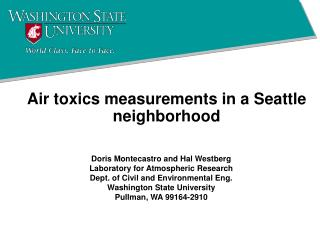 Air toxics measurements in a Seattle neighborhood