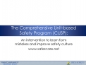The Comprehensive Unit-based Safety Program CUSP: