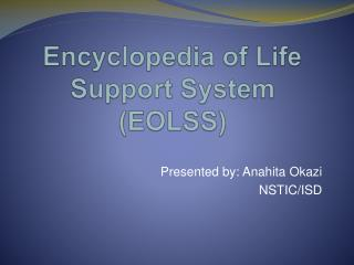 Encyclopedia of Life Support System (EOLSS)