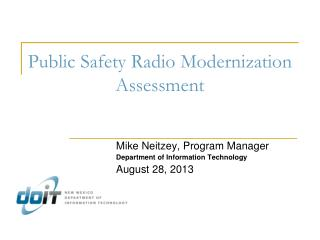 Public Safety Radio Modernization Assessment