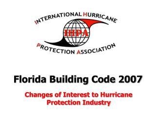 Florida Building Code 2007