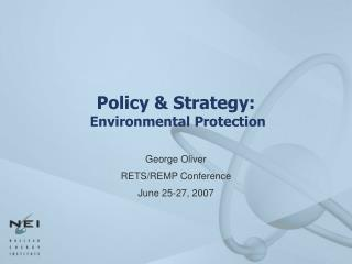 Policy  Strategy:  Environmental Protection