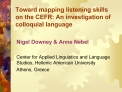 Toward mapping listening skills  on the CEFR: An investigation of colloquial language