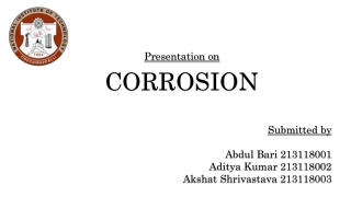 Hydrogen Induced Corrosion