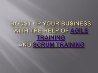 Boost Up Your Business With The Help Of Agile Training and S