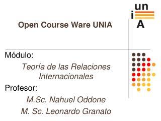 Open Course Ware UNIA