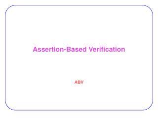 Assertion-Based Verification