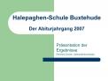 Halepaghen-Schule Buxtehude  Der Abiturjahrgang 2007