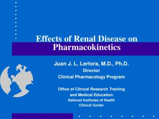 Effects of Renal Disease on Pharmacokinetics