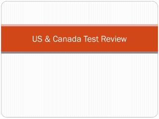 US & Canada Test Review