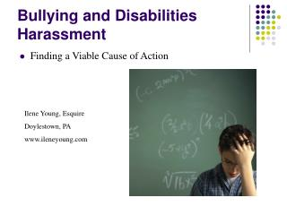 Bullying and Disabilities Harassment