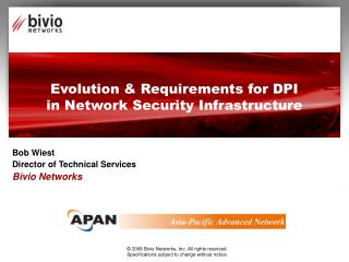 Evolution  Requirements for DPI in Network Security Infrastructure