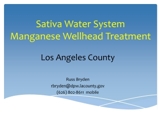 Clean Water Treatment systems