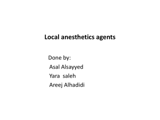 Regional anesthesia:  peripheral nerve blocks