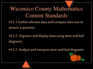 Wicomico County Mathematics Content Standards