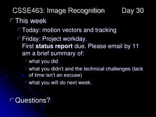 Camera Parts Demo  Quiz Information
