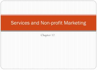 Services and Non-profit Marketing