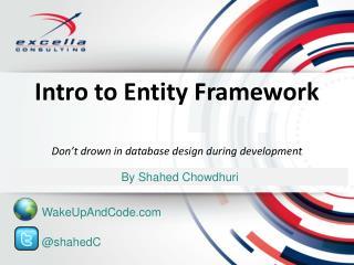 Intro to Entity Framework