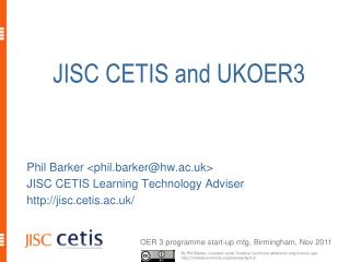 JISC CETIS  and UKOER3