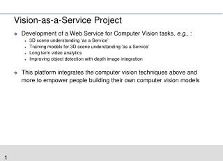 Vision-as-a-Service Project