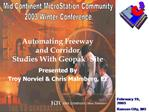 Automating Freeway and Corridor Studies With Geopak Site